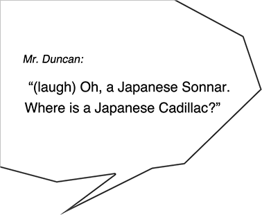 Mr. Duncan: (laugh) Oh, a Japanese Sonnar. Where is a Japanese Cadillac?