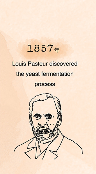 1857 Louis Pasteur discovered the yeast fermentation process