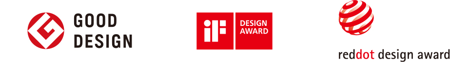 Logo:Good Design Award,iF design award,Red Dot Award